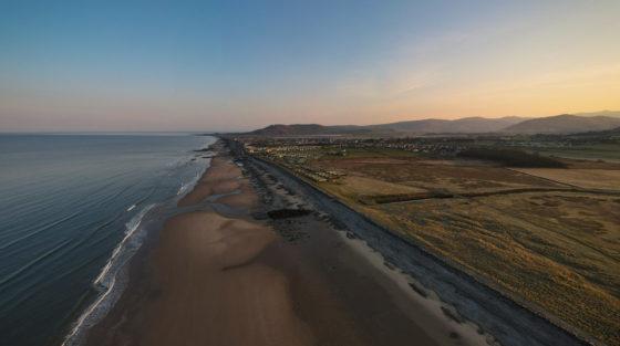 Tywyn beach at sunrise