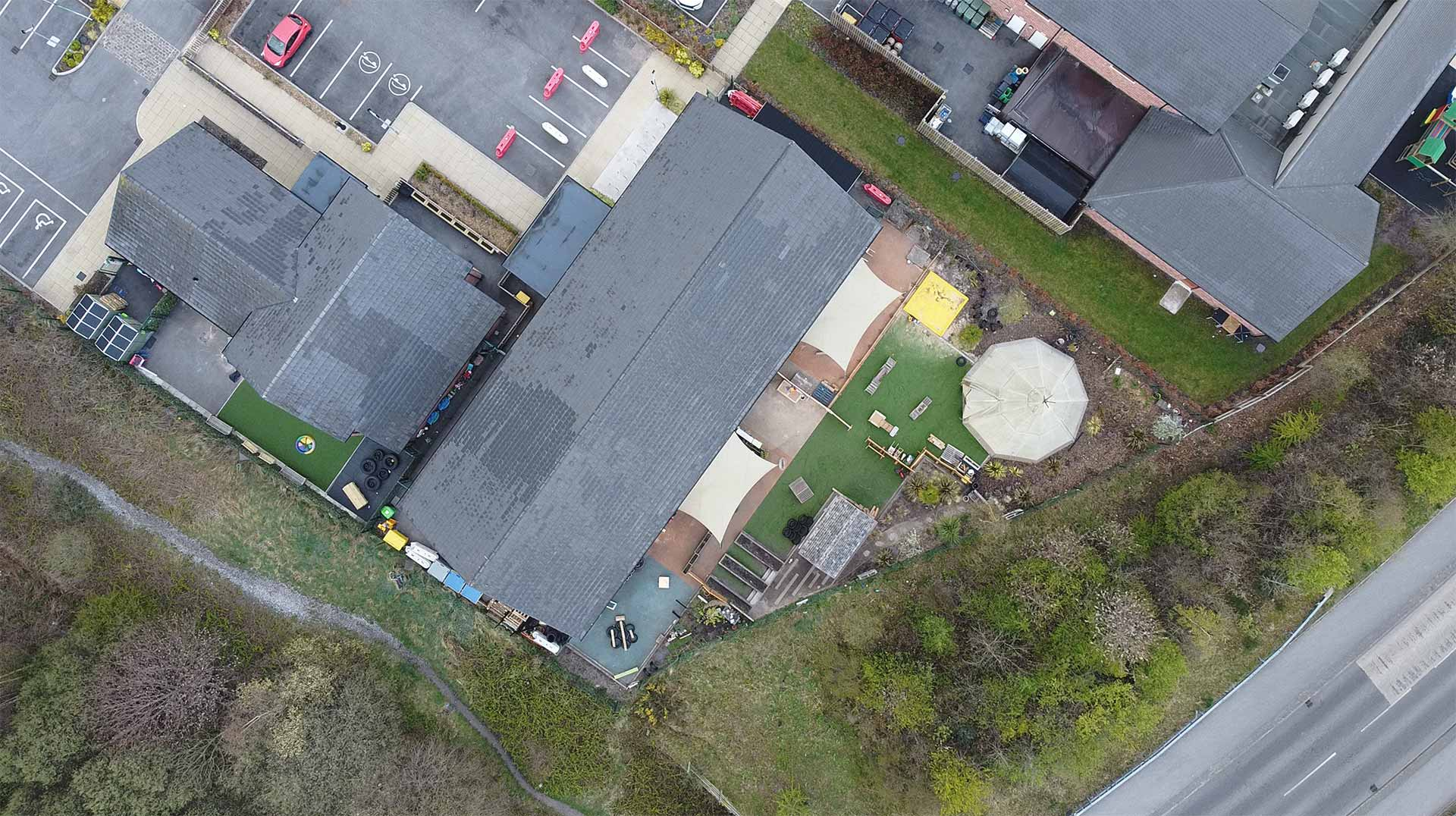 Back to The Garden Childcare Aerial Photograph