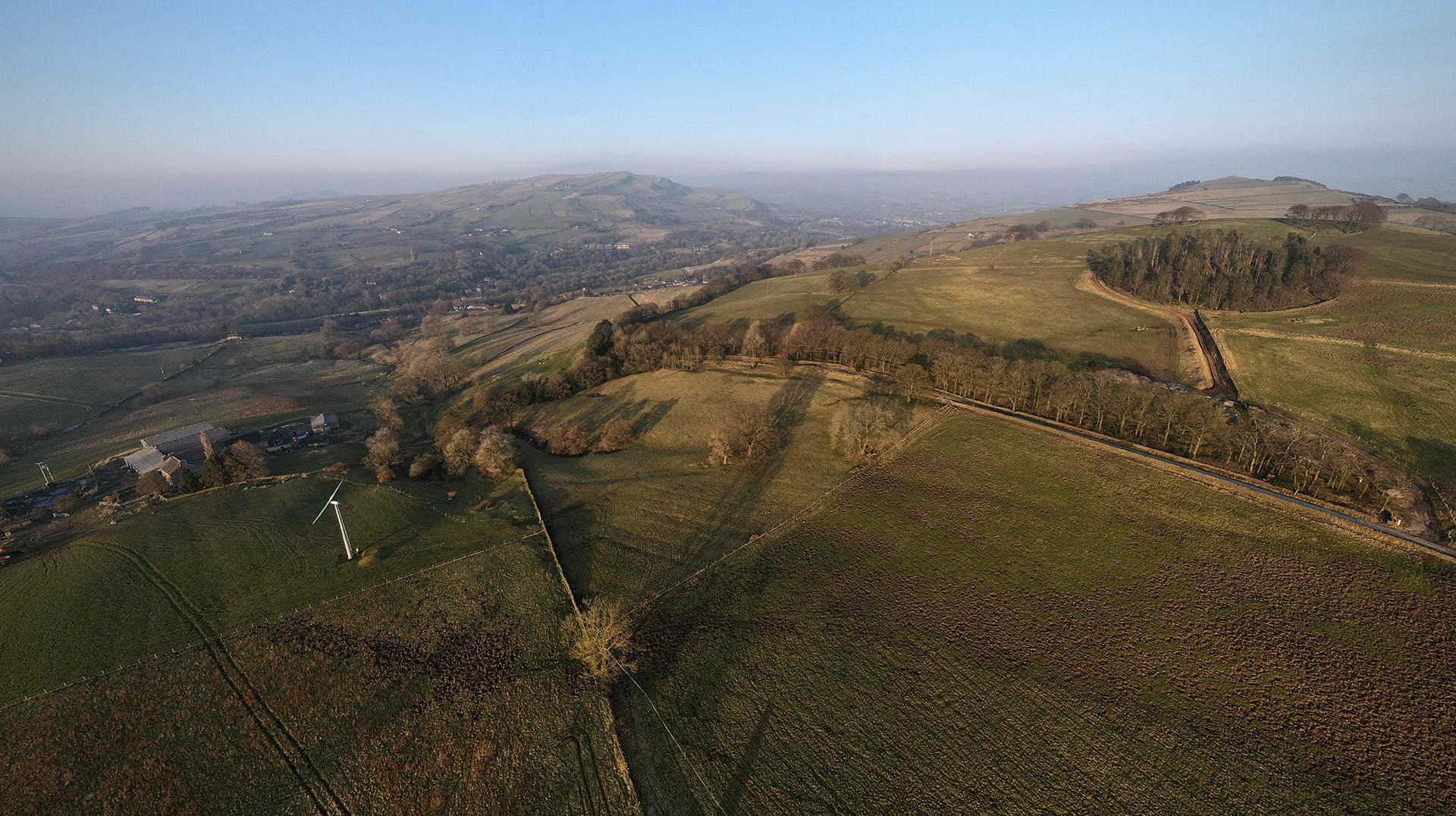 Sunart Fields Aerial Photograph