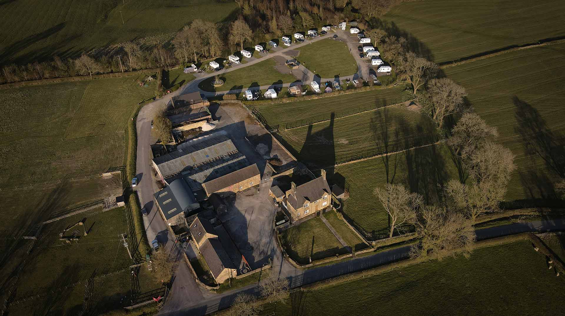 Upper Hurst Farm Campsite Aerial photograph